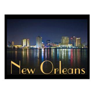 New Orleans, Luisiana/el fácil grande en la noche Tarjetas Postales