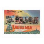New Orleans, Luisiana - escenas grandes de la letr Postal