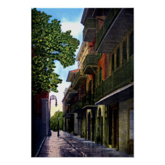 New Orleans Luisiana piratea el callejón Póster