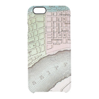 New Orleans Map, 1837 Clear iPhone 6/6S Case