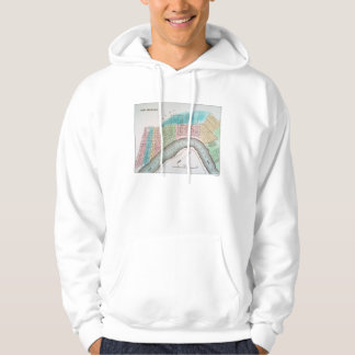 New Orleans Map, 1837 Hooded Pullover
