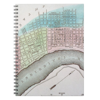 New Orleans Map, 1837 Notebook