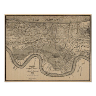 New Orleans MAp 1849 Posters