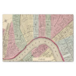 """New Orleans Map by Mitchell 10"""" X 15"""" Tissue Paper"""