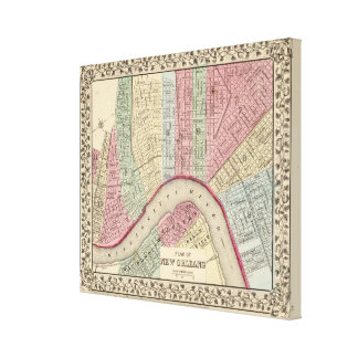 New Orleans Map by Mitchell Gallery Wrap Canvas