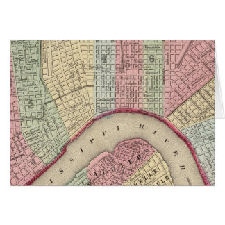 New Orleans Map by Mitchell Card