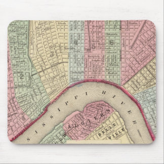 New Orleans Map by Mitchell Mouse Pad