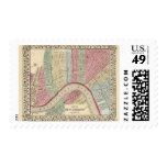 New Orleans Map by Mitchell Postage Stamps