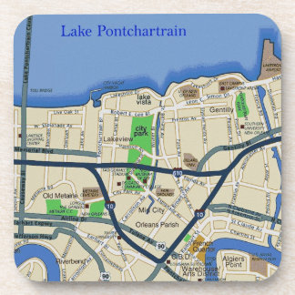 New Orleans Map Coasters