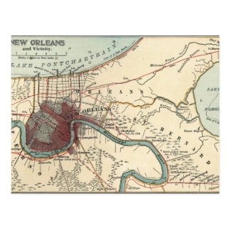 New Orleans Map Postcard