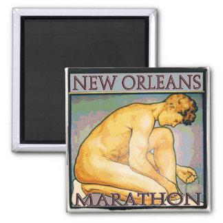New Orleans MArathon SQ 2 2 Inch Square Magnet