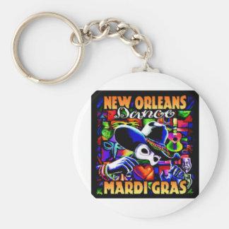 New Orleans Mardi Gras #010 Keychain