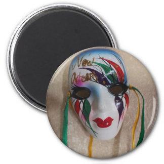 New Orleans Mardi Gras Mask 2 Inch Round Magnet