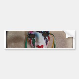New Orleans Mardi Gras Mask Bumper Sticker