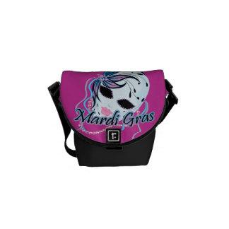 New Orleans Mardi Gras Mask Messenger Bag