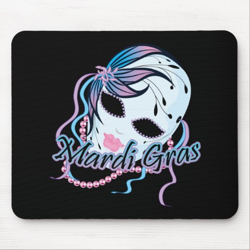 New Orleans Mardi Gras Mask Mousepads