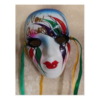 New Orleans Mardi Gras Mask Postcard