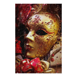 New Orleans Mardi Gras Mask Poster Print