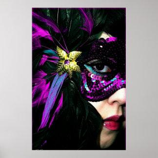 New Orleans Mardi Gras Mask Poster Print