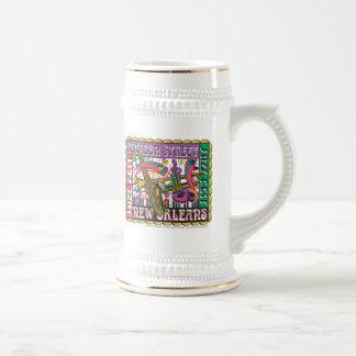 New Orleans Mardi Gras Coffee Mugs