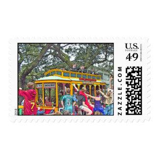New Orleans Mardi Gras Parade Stamp