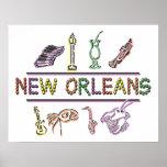 New Orleans Mardi Gras Print