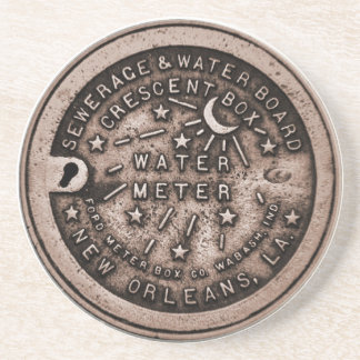 New Orleans Meter Cover Drink Coaster
