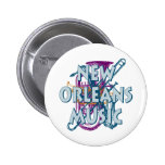 New Orleans Music Buttons