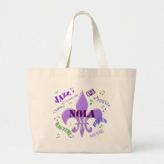 New Orleans Music Large Tote Bag