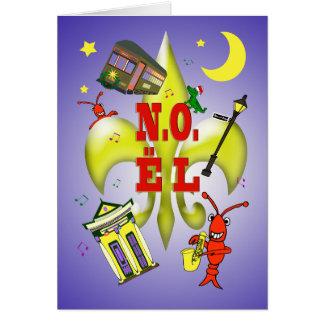 New Orleans N.O.ël Noël Christmas Greeting Card