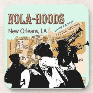 New Orleans Neighborhoods Map, NOLA_HOODS Drink Coaster