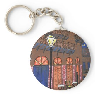 New Orleans Night Cafe keychain