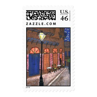 New Orleans Night Cafe, Pirates Alley stamp