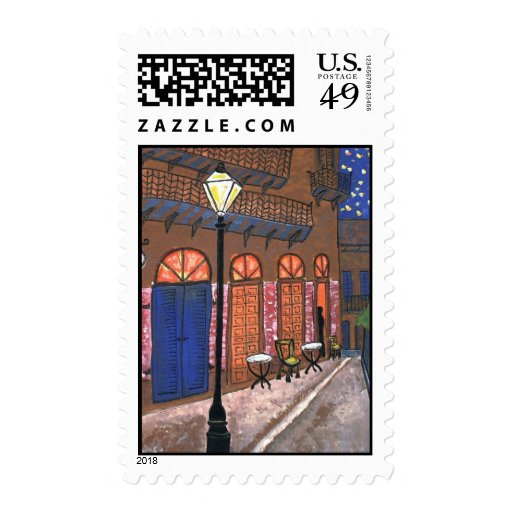 New Orleans Night Cafe, Pirates Alley Postage Stamp