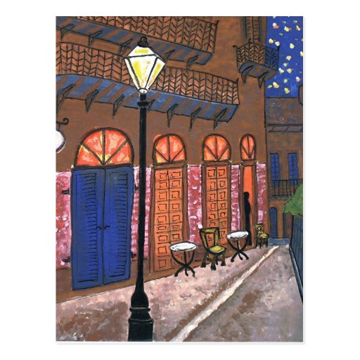 New Orleans Night Cafe Post Card