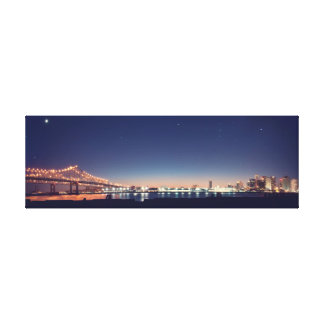 New Orleans nighttime panorama Canvas Print