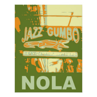 New Orleans Nola Jazz Gumbo Poster