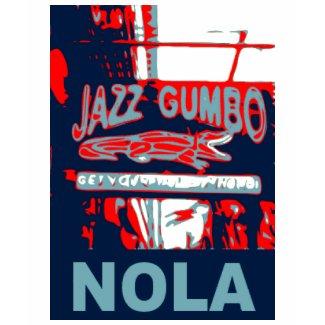 New Orleans Nola Jazz Gumbo shirt