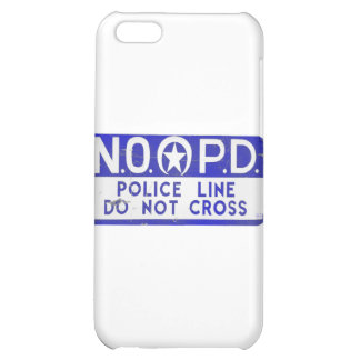 New Orleans NOPD Police Line Sign - Blue iPhone 5C Covers
