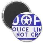 New Orleans NOPD Police Line Sign - Blue Refrigerator Magnets
