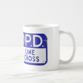 New Orleans NOPD Police Line Sign - Blue Classic White Coffee Mug