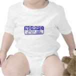 New Orleans NOPD Police Line Sign - Blue Baby Bodysuits