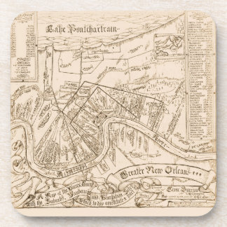 New Orleans Old Map Coasters
