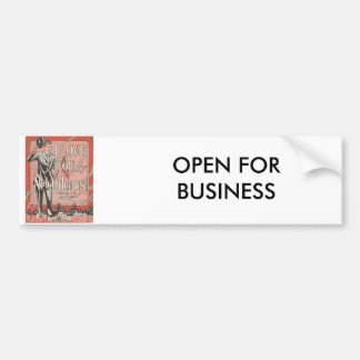 New Orleans, OPEN FOR BUSINESS Bumper Sticker