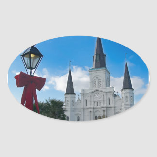 New Orleans Oval Sticker