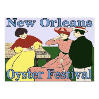 New Orleans Oyster Festival 5x7 Paper Invitation Card