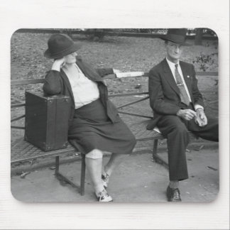 New Orleans Park Bench, 1930s Mouse Pad
