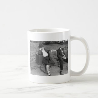 New Orleans Park Bench, 1930s Classic White Coffee Mug