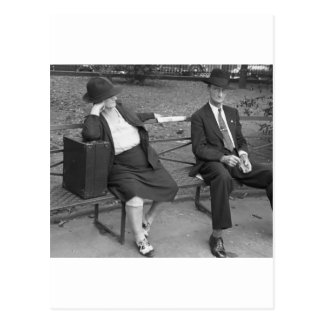 New Orleans Park Bench, 1930s Postcards