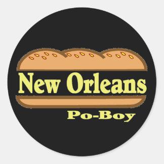 New Orleans Po Boy Classic Round Sticker